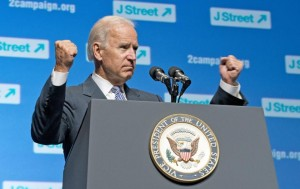 Vice President Joe Biden addresses a J Street conference in 2013.