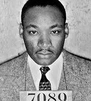 A mug shot photo of the Rev. Martin Luther King Jr.
