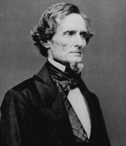 Confederate President Jefferson Davis.