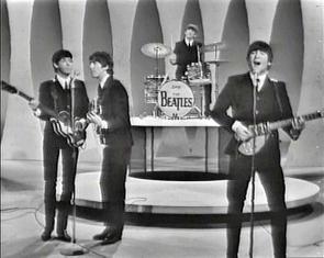 "The Beatles on the ""Ed Sullivan Show."""