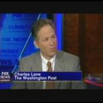 Washington Post editorial writer Charles Lane appearing on Fox News.