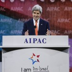 Secretary of State John Kerry speaking to the AIPAC conference on M