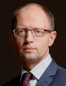 Ukraine's Prime Minister Arseniy Yatsenyuk. (Photo credit: Ybilyk)