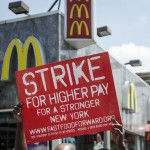 A protest for higher pay in the fast-food industry. (Photo by Annette Bernhardt)