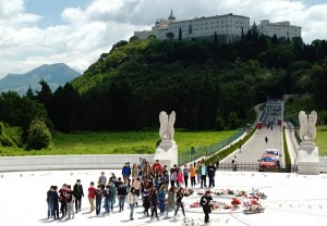 Monte Cassino today with the rebuilt Abbey in the background. (Photo by Don North)