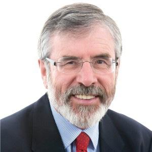 Sinn Fein leader Gerry Adams.