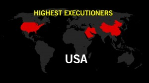 Amnesty International's graphic showing the countries that extensively use the death penalty.