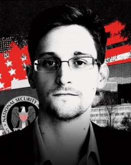 Vanity Fair graphic accompanying its profile of National Security Agency whistleblower Edward Snowden.