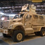 A Mine Resistant Armored Personnel carrier or MRAP, like ones now being used by domestic SWAT teams in the United States. (Credit: Grippenn)