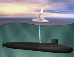 An artist's rendition of the future SSBN-X nuclear-armed submarine. (U.S. Navy graphic)
