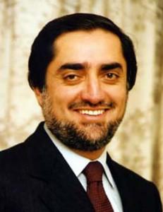 Afghan presidential candidate Abdullah Abdullah.