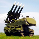 Russian-made Buk anti-aircraft missile battery.