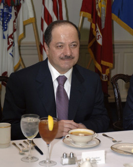 Kurdish leader Massoud Barzani. (U.S. government photo)