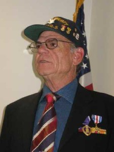 Silver Star recipient Terry Halbardier, who got off an SOS message that saved the USS Liberty from Israeli destruction on June 8, 1967.