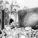 The ruins of the Urakami Christian church in Nagasaki, Japan, as shown in a photograph dated Jan. 7, 1946.
