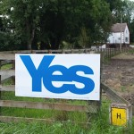 A pro-independence sign near Inverness, Scotland. (Photo credit: Don North)