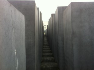 A scene from inside Berlin's Holocaust memorial.