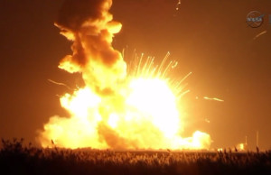 The Antares rocket exploded on take-off on Oct. 28, 2014. (NASA Photo)