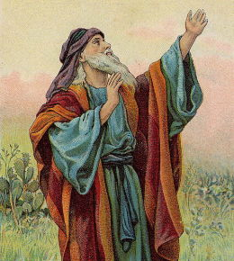 The Prophet Isaiah (Illustration from a Bible card published by the Providence Lithograph Company)