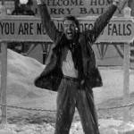 "Actor Jimmy Stewart in Frank Capra's classic, ""It's a Wonderful Life."""