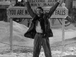 "Actor Jimmy Stewart in Frank Capra's classic, ""It's a Wonderful Life."""