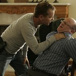 "Actor Kiefer Sutherland as Jack Bauer in the Fox TV show ""24"" using torture to extract information."