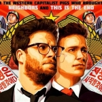 "A poster from Sony's ""The Interview"" starring Seth Rogen and James Franco."