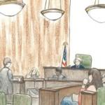 Courtroom sketch of Jeffrey Sterling trial by Debra Van Poolen (http://www.debvanpoolen.com/)