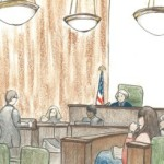 Courtroom sketch of Sterling trial by Debra Van Poolen (http://www.debvanpoolen.com/)