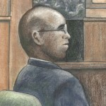 Courtroom sketch of former CIA officer Jeffrey Sterling by Debra Van Poolen (http://www.debvanpoolen.com/)