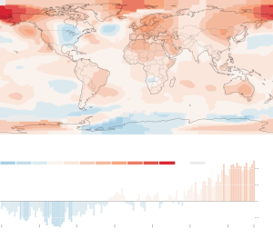 New York Times graphic based on data from NASA and the National Oceanic and Atmospheric Administration.