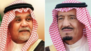 Saudi Prince Bandar bin Sultan (left) and Saudi King Salman bin Abdulaziz Al Saud (right). (Photo credit: Press TV)