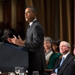 President Barack Obama addresses the National Prayer Breakfast at the Washington Hilton in Washington, D.C., Feb. 7, 2013. (Official White House Photo by Pete Souza)
