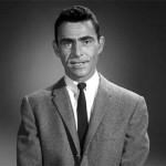 "Rod Serling, host of the iconic television series, ""The Twilight Zone."""