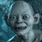Gollum, a character in J.R.R. Tolkien's Lord of the Rings fantasy novels.