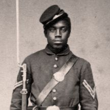 A U.S. Colored Troop soldier in the Civil War.