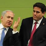 Israeli Ambassador to the United States Ron Dermer with Israeli Prime Minister Benjamin Netanyahu.
