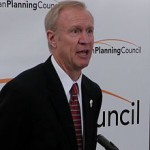 Illinois Gov. Bruce Rauner. (Photo credit: Steve Vance)