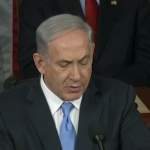 Israeli Prime Minister Benjamin Netanyahu speaking to a joint session of the U.S. Congress on March 3, 2015. (Screen shot from CNN broadcast)