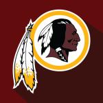 Logo of the Washington Redskins football team.