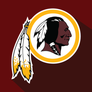 Logo of the Washington Redskins football team.