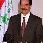 Iraqi President Saddam Hussein.