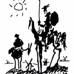 Pablo Picasso's 1955 painting of Don Quixote and Sancho Panza.