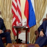 Secretary of State John Kerry meets with Russian Foreign Minister Sergey Lavrov in a bilateral discussion in Vienna before Iran-nuclear negotiations on June 30, 2015. (State Department Photo)