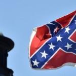 The Confederate battle flag.