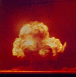 Trinity test on July 16, 1945. (U.S. government photo)