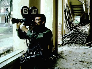 ABC News cameraman filming in Vietnam.