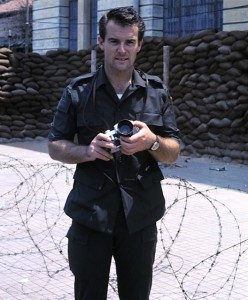 Don North as a young war correspondent in Vietnam.