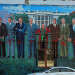 "The ""paintballed"" mural in the Adams Morgan neighborhood of Washington, D.C."