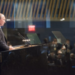 Russian President Vladimir Putin addresses UN General Assembly on Sept. 28, 2015. (UN Photo)